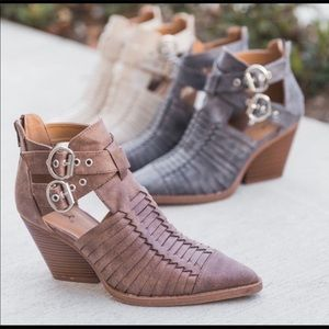 Shoes - Caged booties. NWT.
